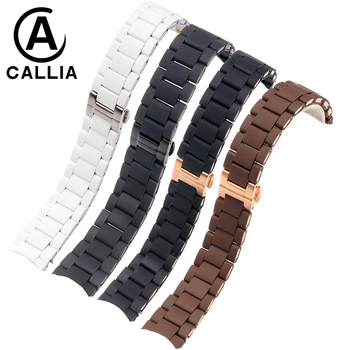 20MM 23MM  Rubber Silicone WatchBand For Armani Silicone Rubber Wrapped Stainless Steel Watch Strap For AR5906 5890