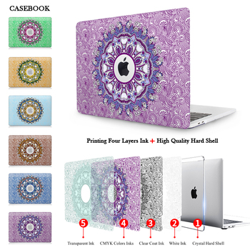 Floral Paisley For New Apple MacBook Pro 13 15 Case 2016 model A1706 A1707 A1708 with & non touch Bar Clear Crystal Hard Case