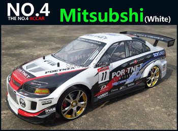 Large 1:10 RC Car High Speed Racing Car 2.4G Mitsubishi 4 Wheel Drive Radio Control Sport Drift Racing Car Model electronic toy