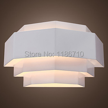 White Metal Wall Sconce Geometrical Designed Style bedroom wall lamp contains LED bulbs