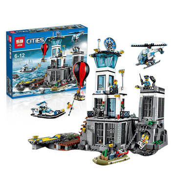 815pcs Lepin 02006 City Series The Prison Island Set Building Blocks Bricks Educational Toys for children Gift brinquedos