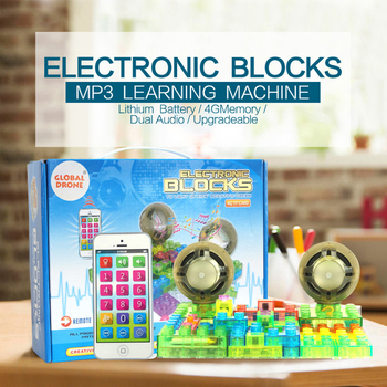 Children Educational Toys Electric Energy Building Blocks Creative MP3 Learning Machine Remote Control Operation Toys For Kid